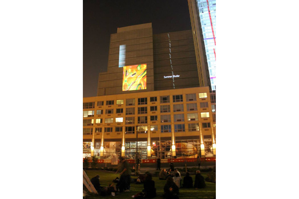Story of the Creative - Summer's Painting Creative Rising Building projection 2013